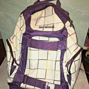 Burton Backpack purple striped Laptop Snowboard